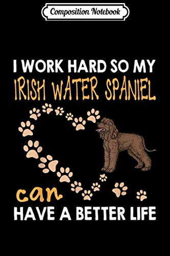 Composition Notebook: Funny Irish Water Spaniel Irish Water Spaniel Lover Journal/Notebook Blank Lined Ruled 6x9 100 Pages 1