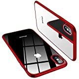 TORRAS Crystal Clear iPhone Xs Max Case, Soft TPU Thin Cover Slim Gel Phone Case for iPhone Xs Max 6.5' (2018) - Red