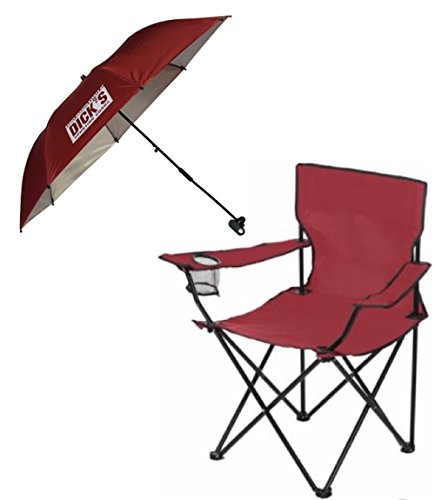 dicks-sporting-goods-folding-chair-with-matching-clamp-on-umbrella-shade-burgundy
