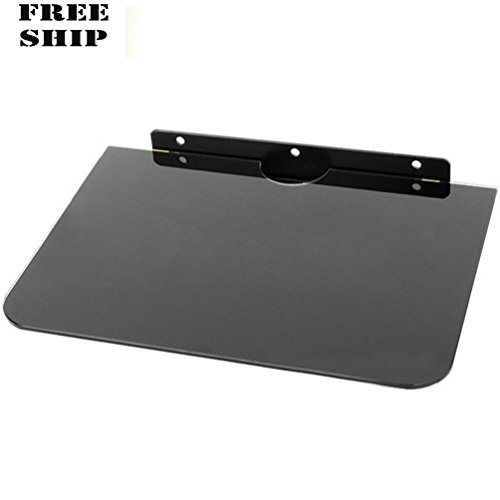Glass Floating Shelf Wall Mount Under Tv Cable Box Component Dvr Dvd - Video Beer Mile
