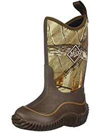 Muck Hale Multi-Season Kids' Rubber Boots, 7 M US Big Kid, Brown with Realtre.
