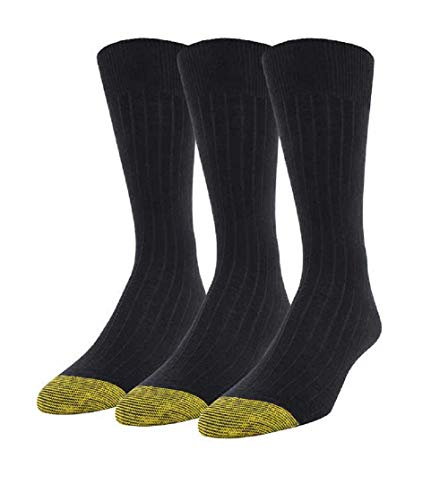 b2de0adf6c4d7 Gold Toe Men's Windsor Wool Sock 3-Pack, One Size, Black available ...