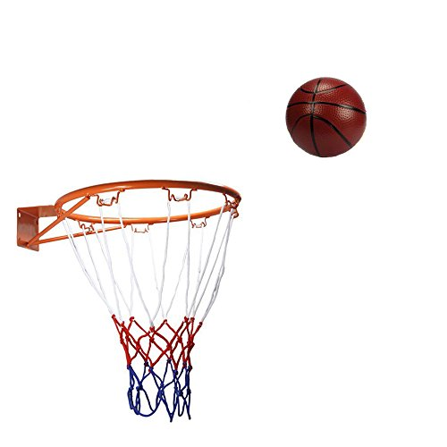 Dream Travel Kids Indoor Outdoor Basketball Hoop Basketball Rim,32cm/12.6in include Net and Kids Ball,16cm/6.3in
