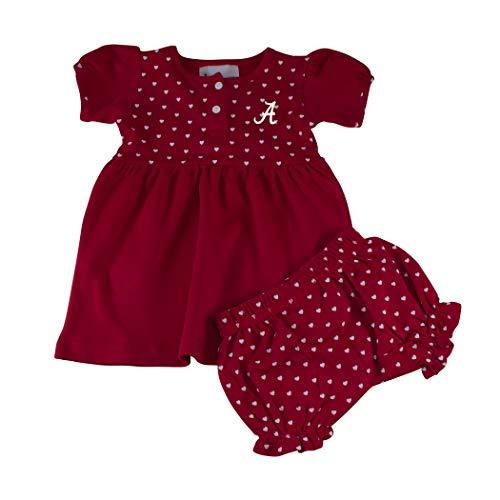 Arkansas Razorbacks NCAA Newborn Infant Baby Heart Dress with Bloomer (6 Months) Crimson,red ()