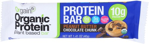 Orgain Organic Protein Bar, Peanut Butter Chocolate Chunk, 1.41 Ounce, 12 Count