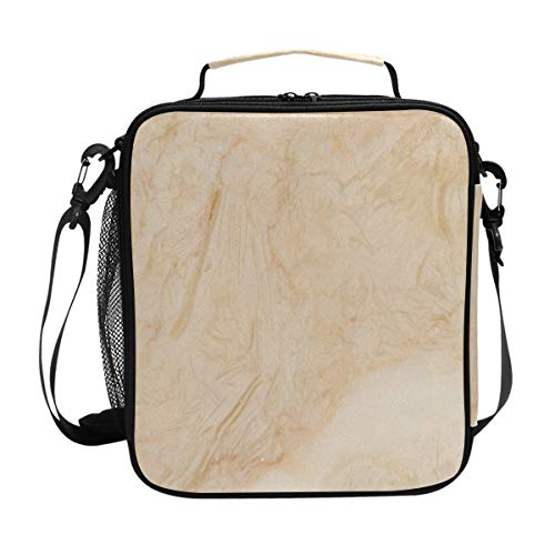 Lunch Box Insulated Waterproof Marble Flooring Texture Lunch Bag for School Office Picnic