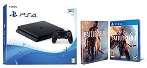 PlayStation 4 Slim (PS4) 500 GB - Consola + Battlefield 1 + Steelbook (Exclusivo en Amazon)