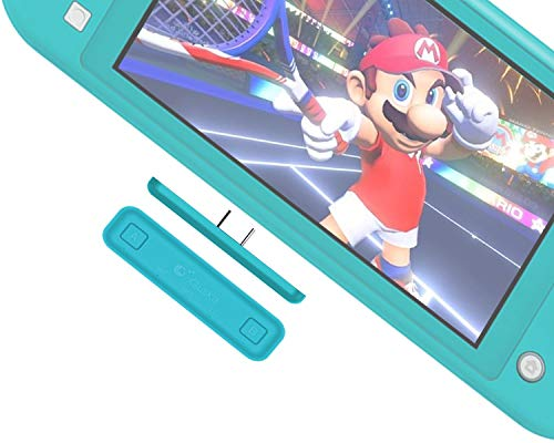 Switch Lite Bluetooth 5.0 Transmitter,Gulikit Route Air Wireless Adapter w/APTX Low Latency Compatible with Nintendo Switch & Lite Version, PS4 PC for Airpods Bose Bluetooth Headphone Speakers(Blue)