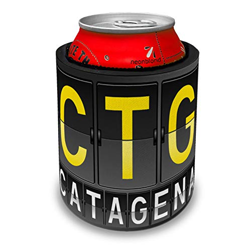 NEONBLOND CTG Airport Code for Catagena Slap Can Cooler Insulator Sleeve