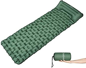 OMORC Inflatable Camping Sleeping Mat with Built-in Pillow