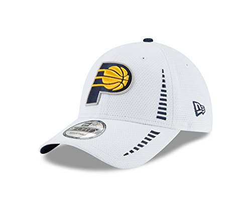 NBA Indiana Pacers Adult White NE Speed 9FORTY Adjustable Cap, One Size, White