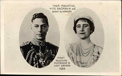 King George VI and Queen Elizabeth Royalty Original Vintage Postcard 1939