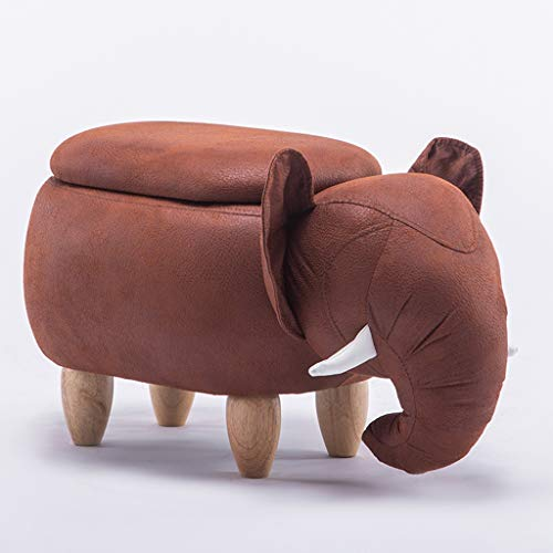 LBYMYB Elephant Hall Change Shoe Stool Creative Sofa Stool Storage Stool Stool Storage Stool Cartoon Stool Test Shoe Stool Storage Foot Stool 66x34x39cm Wooden Bench (Color : A, Size : Y)