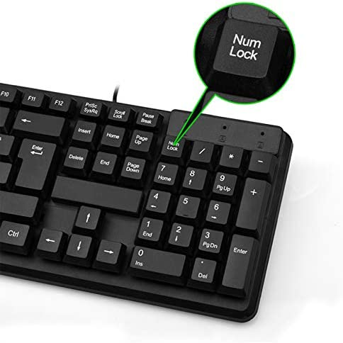 Sumerlly Wired Mouse Keyboard Set USB Desktop Sensitive Durable for Home Office Gaming