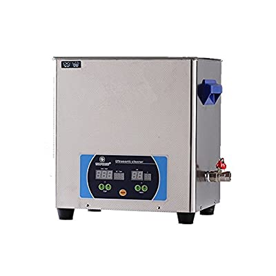 Professional Heavy Duty Stainless Steel Ultrasonic Jewelry, Glass and watch Cleaner Heater Timer with Digital Time/Temp LED Displays Large Capacity (12 Liter)