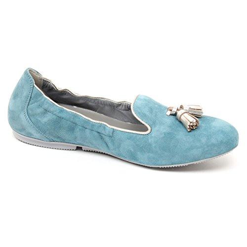 shoe woman loafer 144 scarpa B4790 azzurra pantofola donna HOGAN WRAP Azzurro mocassino xTnzvq6