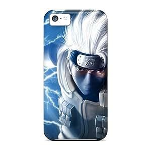 Perfect Hard Phone Case For Apple Iphone 5c With Customized Trendy Naruto Shippuden Kakashi Pattern ErleneRobinson