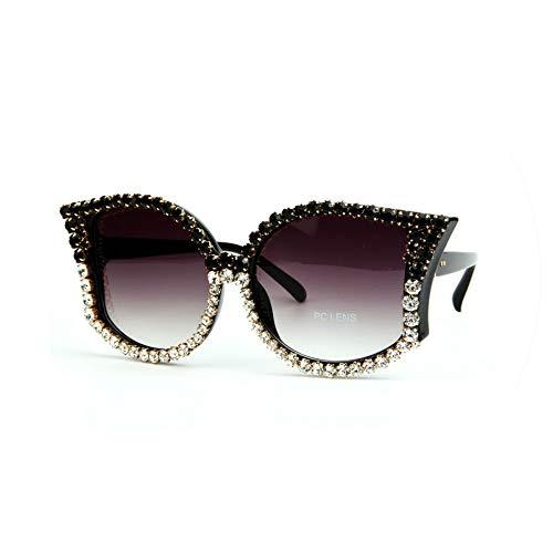 Fashion Cat eye Sunglasses Women Luxury Rhinestone Sun Glasses vintage shades ()