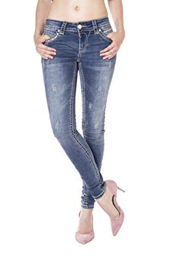 Blue Monkey Jeans - Vaqueros - skinny - Básico - para mujer Azul