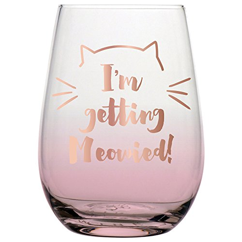 Slant Collections 20 oz Stemless Wine Glass: I'm Getting Meowied