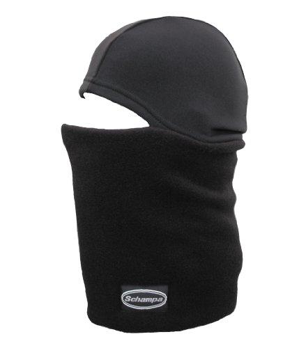 (Schampa Skull Gaiter Double Layer Fleece Neck Gaiter with WarmSkin Skullcap Attached (Black, One Size))