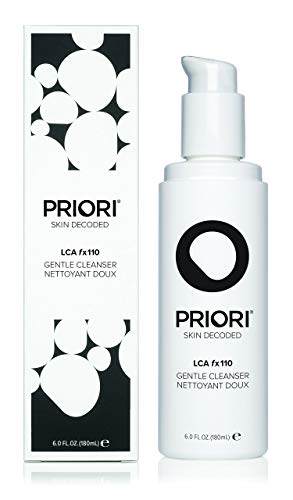 Priori Gentle Facial Cleanser LCA Fx110 - Hydrating, Exfoliating Daily Face Wash for All Skin Types - 6 oz (180 ()