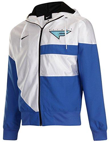 Nike Mens FL Flight Basketball Trainingsjacke, Weiß, Größe S