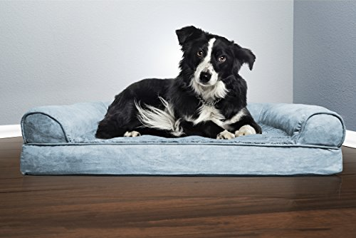 Image of FurHaven Pet Dog Bed | Orthopedic Ultra Plush Sofa-Style Couch Pet Bed for Dogs & Cats, Deep Pool, Large