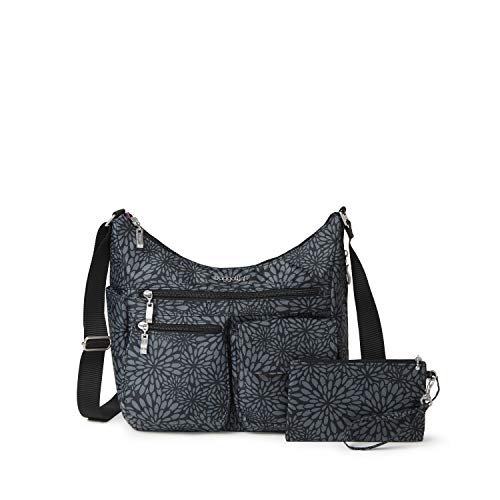 Baggallini Everywhere Bagg with RFID, Pewter Floral