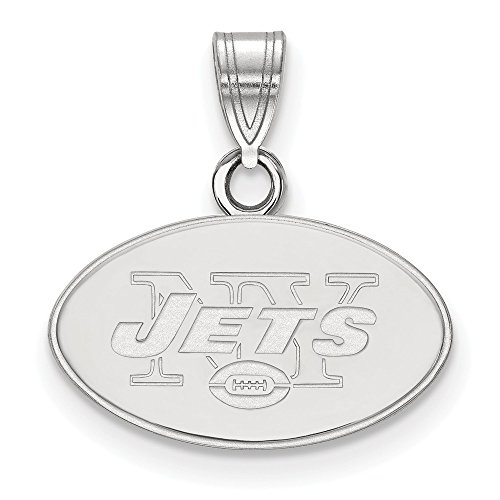 NFL Sterling Silver New York Jets Small Pendant