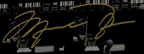 Michael Jordan Signed 10x22 Chicago Bulls Film Strip Art of Dunk FRAMED UDA /323