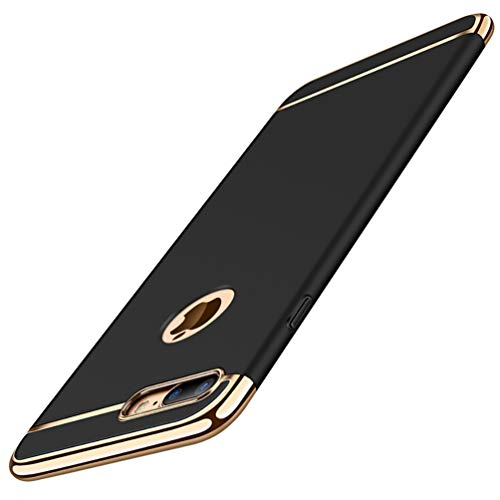 ATRAING iPhone 7 Plus Case,Ultra-Thin PC 3 in 1 Shockproof Thin Hard Case Cover Compatible for iPhone 7 Plus 5.5 inch (Black)