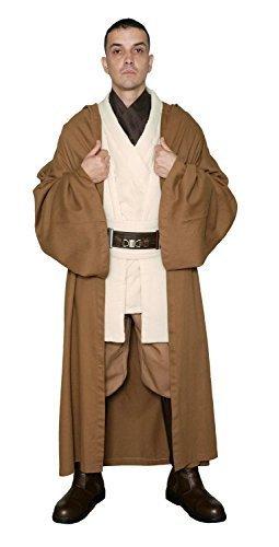 [Jedi-Robe Men's Star Wars Obi-Wan Kenobi Tunic Set And Robe Medium Light Brown] (Obi Wan Kenobi Baby Costume)