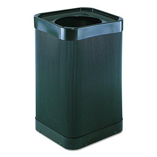 (Safco Products At-Your-Disposal Trash Can 9790BL, Black, Impact and Water Resistant, 38 Gallon)