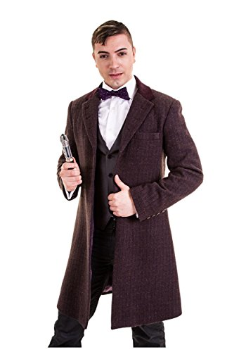 AbbyShot Clothiers mens Eleventh Doctor's Purple Coat X-Large]()
