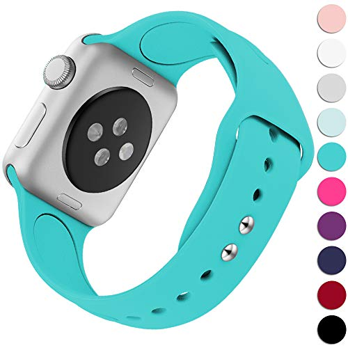 KOLEK Replacement Bands Compatible with Apple Watch 38mm / 40mm, Premium Silicone Strap Compatible with iWatch Series 4/3/2/1, S/M, Teal