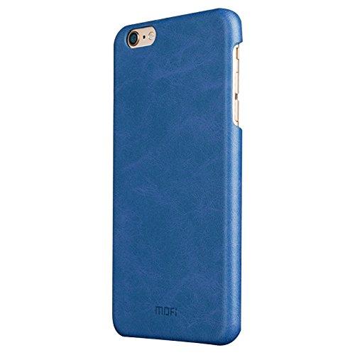 Phone Taschen & Schalen Für iPhone 6 Plus & 6s Plus Crazy Horse Texture Leder Oberfläche PC Schutzhülle Back Cover ( Color : Dark Blue )