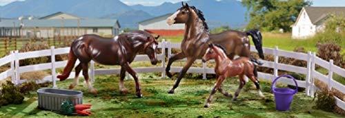 Breyer Freedom Series (Classics) Pony Power 3 Horse Playset | Model Horse Toy | 1:12 Scale (Classics) | Model #62200