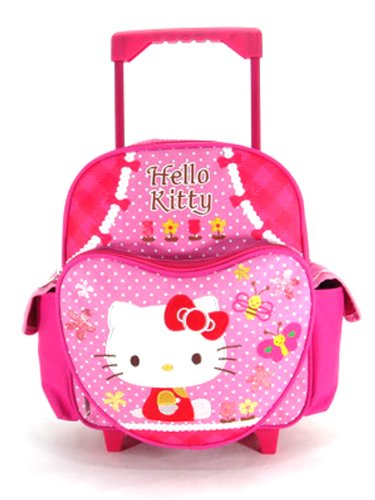 Small Rolling Backpack - Hello Kitty - Garden Hello Kitty Rolling Backpacks