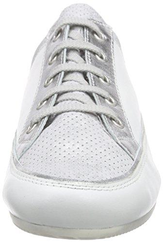Basses Semler 101 Baskets Weiss Femme Tonia silber Blanc 41qz1Px