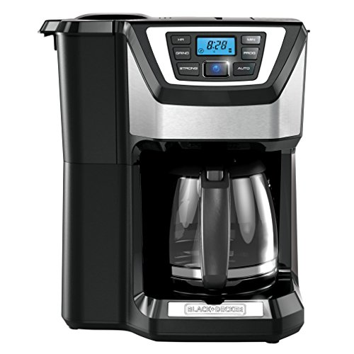 BLACK+DECKER 12-Cup Mill and Brew Coffeemaker, Black, CM5000B ()