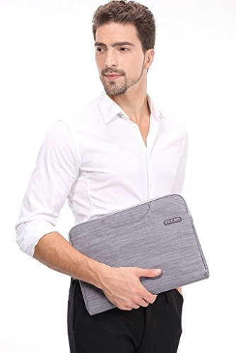 Plemo Sleeve Case Bag Briefcase for 13 - 13.5 Inch Laptop / MacBook / Surface Book / Ultrabook with Denim Fabric, Gray