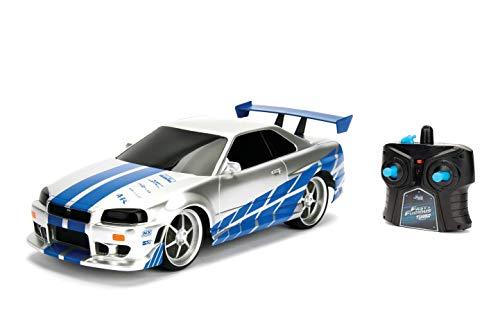 JADA Toys Fast & Furious Brian's Nissan Skyline GT-R (Bnr34)- Ready to Run R/C Radio Control Toy Vehicle, 1: 16 Scale 1