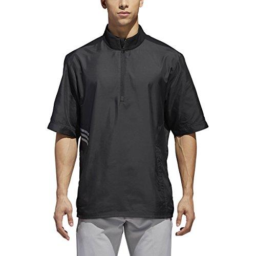 - adidas Golf Men's Club Wind Short Sleeve Pullover Jacket, Medium, Black