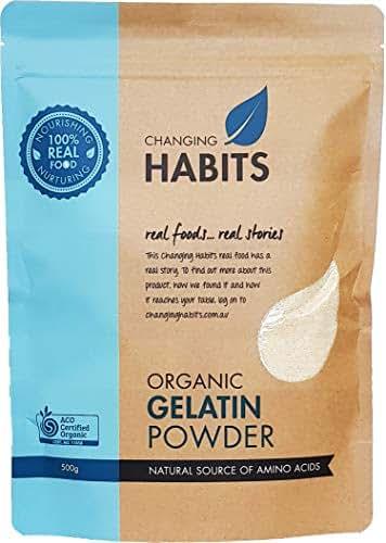 Organic Gelatin Powder: Versatile Collagen Protein from 100% Certified Organic Porcine [33 Serves] Non GMO - Gluten, Grain Free - Ideal for Baking and Thickening