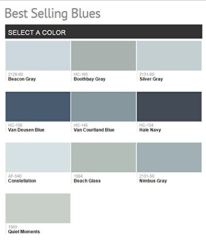 1G Benjamin Moore, BLUES, Aura Waterborne Interior Paint - Satin - Hale Navy