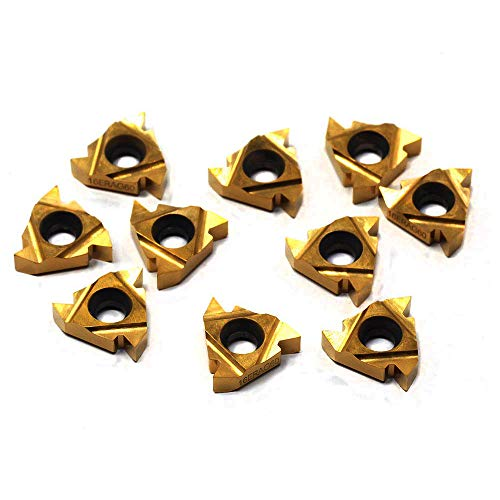 OSCARBIDE Carbide Threading Inserts 16ER A60,CNC Lathe Threading Insert for Indexable Thearding Lathe Turning Tool Holder Boring Bar,10 Pieces//Pack