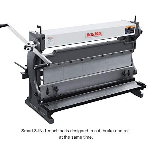 KAKA Industrial 20 Gauges Shear Brake Roll Combination, High Efficiency, Versatility, Solid Construction, Sheet Metal Brakes, Shears and Slip Roll Machine (3-IN-1/30)