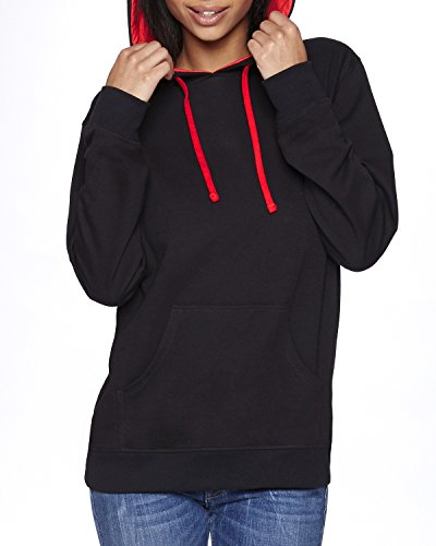 Product of Brand Next Level Adult French Terry Pullover Hoody - Black/RED - L - (Instant Savings of 5% & More)