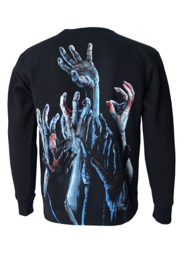 Darkside Zombie Hands Sweat Shirt, schwarz